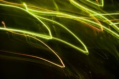 Abstract background in green tones. Blurred colorful lights in motion. Abstract background in green tones vector illustration