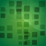 Abstract background with green transparent rhombus light.  Royalty Free Stock Photography
