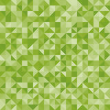 Abstract background green triangles. Vector, seamless repeating pattern, mosaic Stock Image