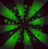 Abstract background. Abstract green vector background. fiery green stars Royalty Free Stock Image