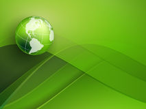 Abstract background. Green vector background with globe and copy space. Eps10 Royalty Free Stock Photography