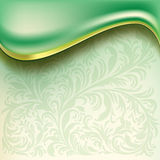 Abstract background with green wave Stock Images