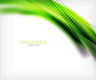 Abstract background, green wave business template Stock Images