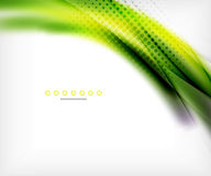 Abstract background, green wave business template Stock Photo