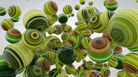 Abstract background with greenery balls, 3D rendering, stretched. Pixels texture, fresh and lush Stock Illustration