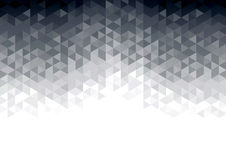 Abstract background with grey glowing triangles. Polygon background vector Stock Photos