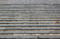 Abstract background of grey horizontal concrete stairs Stock Images