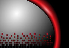 Abstract background grey and red. Vector illustration Royalty Free Stock Image
