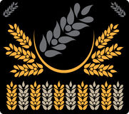 Abstract background grey wheat 7. Abstract picture of grey wheat royalty free illustration