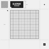 Abstract background with grid blueprint Royalty Free Stock Image