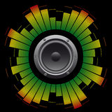 Abstract background grunge equalizer. With speaker stock illustration