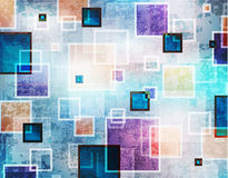 Abstract background. With grunge squares Stock Photography
