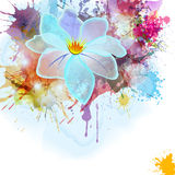 Abstract background in grunge style with flower. Royalty Free Stock Photo