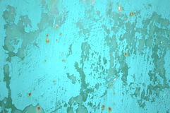Abstract background in grunge style. Grunge background, texture of a rusty old metal surface, colored with blue peeling paint Stock Photography