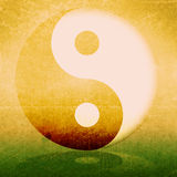 Abstract background. Abstract grunge background with yin yang symbol Stock Images
