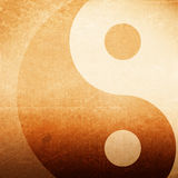 Abstract background. Abstract grunge background with yin yang symbol, brown grunge background Royalty Free Stock Photography