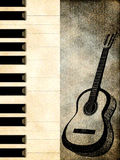 Abstract background with a guitar. Abstract grunge background with a guitar Royalty Free Stock Image