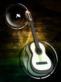 Background with a guitar. Abstract background with a guitar Stock Photography