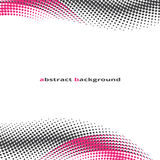 Abstract, background, halfton effect. Pink and black dots stock illustration