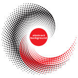Abstract background. Abstract, background, halfton effect red and black points stock illustration
