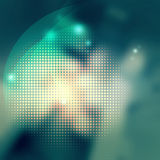 Abstract background halftone dot graphic element in green colors. Green halftone technology background graphic for use in background stock illustration