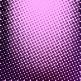 Abstract background with halftone effect. Circles in dark pink color on  pink background Stock Photography