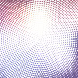 Abstract background with halftone effect. Abstract background with concentric halftone effect. Circles in pink and purple on white background royalty free illustration