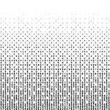 Abstract background with halftone falling figures. Monochrome black numbers of code. Vector illustration stock illustration