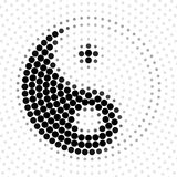 Abstract background halftone pattern, Yin Yang. Abstract background halftone pattern, Yin Yang, vector illustration and design royalty free illustration