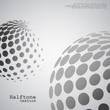 Abstract background of the halftone spheres in grayscale color. And with example of text, created for business advertising, presentation, logo, web vector illustration