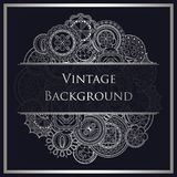 Abstract background. Hand drawn art mandalas. Place for text vector illustration