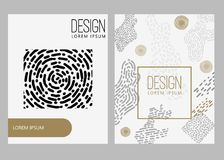 Abstract background with hand drawn design elements. Design element for poster, card, banner. Vector illustration Royalty Free Stock Image