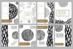 Abstract background with hand drawn design elements. Design element for poster, card, banner. Vector illustration Royalty Free Stock Images