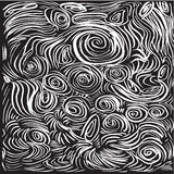 Abstract background. Hand drawn  illustration. Doodles, st. Rokes, spirals Royalty Free Stock Photography