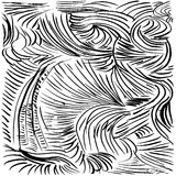 Abstract background. Hand drawn  illustration. Doodles, st. Rokes, spirals Royalty Free Stock Photos