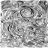 Abstract background. Hand drawn  illustration. Doodles, st. Rokes, spirals Royalty Free Stock Photo
