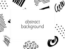 Abstract background. Hand drawn template for card, flyer and invitation design. Vector illustration Royalty Free Stock Photos