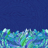 Abstract background. Abstract hand-drawn zentangle background. Vector illustration. Doodle pattern stock illustration