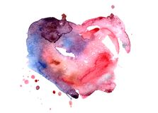 hand-painted texture watercolor heart royalty free illustration