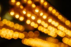 Abstract Background of Hanging Defocused Lights royalty free stock photography