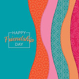 Abstract background.  Happy Friendship Day Stock Image