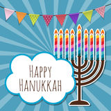 Abstract Background Happy Hanukkah, Jewish Holiday. Vector Illustration EPS10 stock illustration