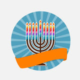 Abstract Background Happy Hanukkah, Jewish Holiday. Vector Illustration EPS10 royalty free illustration