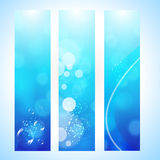 Abstract background header with water wave Royalty Free Stock Photo