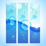 Abstract background header with water wave Stock Photo