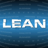 Abstract background with heading Lean. Illustration of abstract background with heading Lean. Lean is modern strategy of companies about higher productivity Stock Images