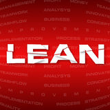 Abstract background with heading Lean Stock Photography