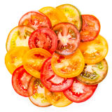 Abstract Background of Healthy natural food  colorful Tomato Stock Photos