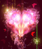 Abstract Background with a heart. Abstract  Background with a heart and  butterflies Royalty Free Stock Images