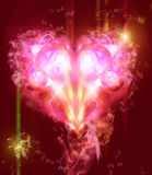 Abstract Background with a heart. Abstract color Background with a heart Stock Photo